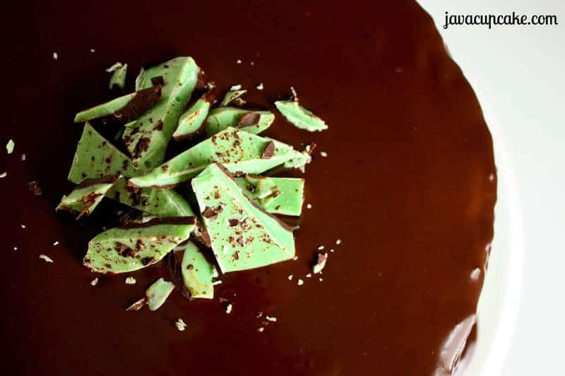 Mint Chocolate Chip Bark by JavaCupcake.com