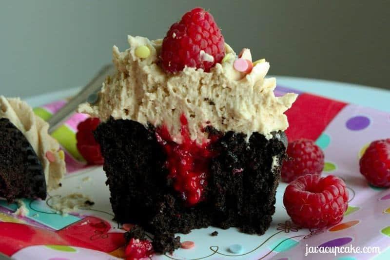PB&J Chocolate Cupcakes by JavaCupcake 4