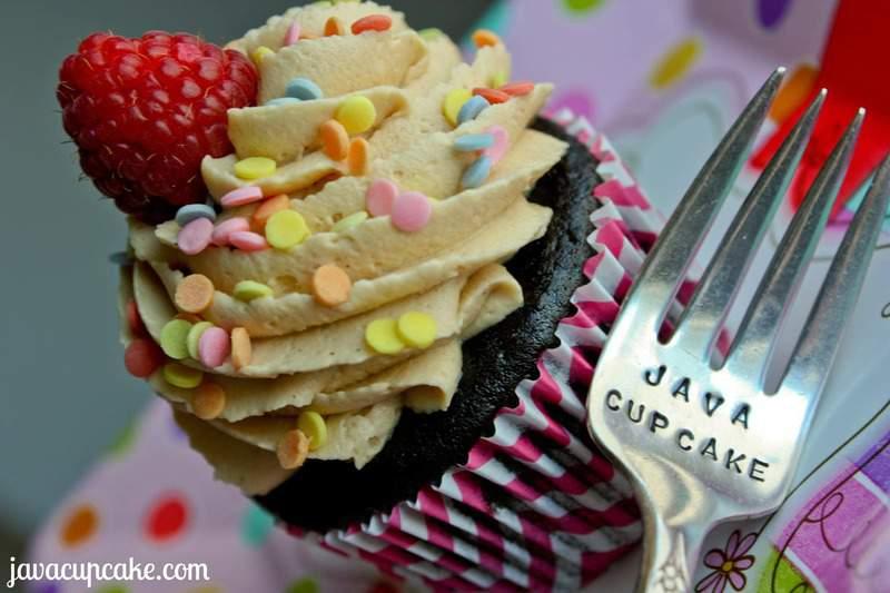 PB&J Chocolate Birthday Cupcakes