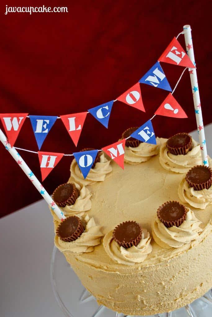 free printable  welcome home cake bunting