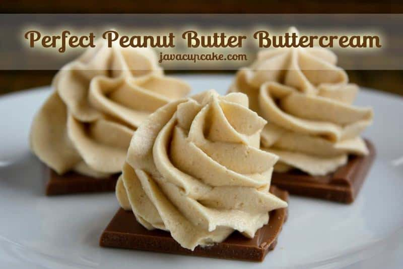 The Perfect Peanut Butter Buttercream - JavaCupcake