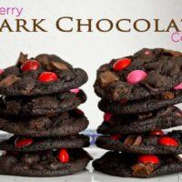 Raspberry Dark Chocolate Cookies