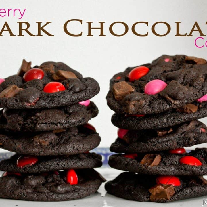 Raspberry Dark Chocolate Cookies