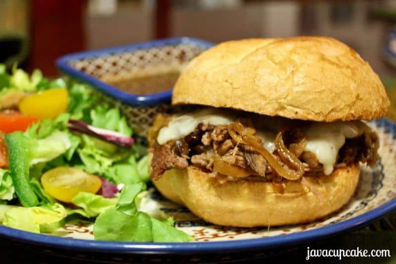 Roast Beef Sliders by JavaCupcake.com