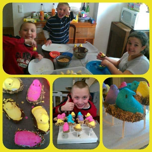 {Fun for the kids} S'mores Peeps Pops by JavaCupcake.com