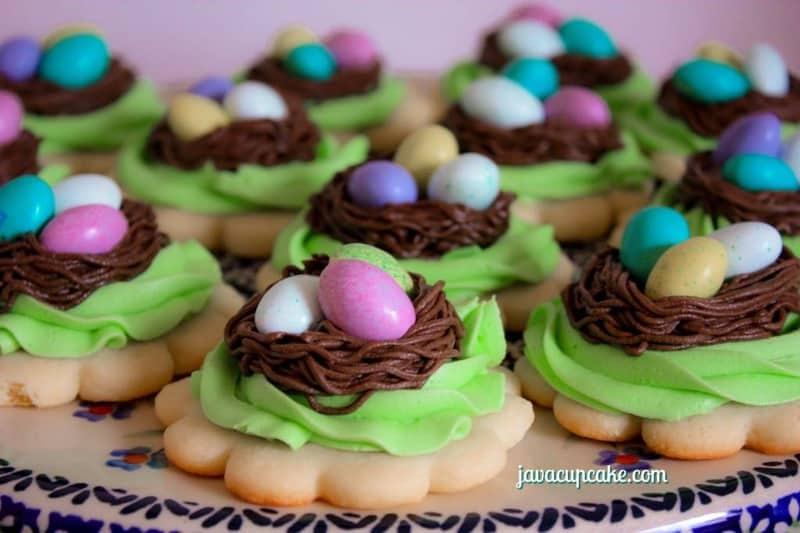 Birds Nest Cookies by JavaCupcake.com