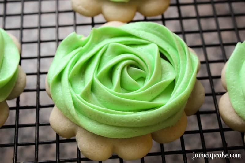 Buttercream Rose Sugar Cookies by JavaCupcake