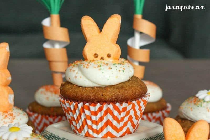 Carrot Cupcakes by JavaCupcake.com