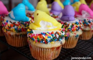 Dave's Funfetti Peeps Cupcakes