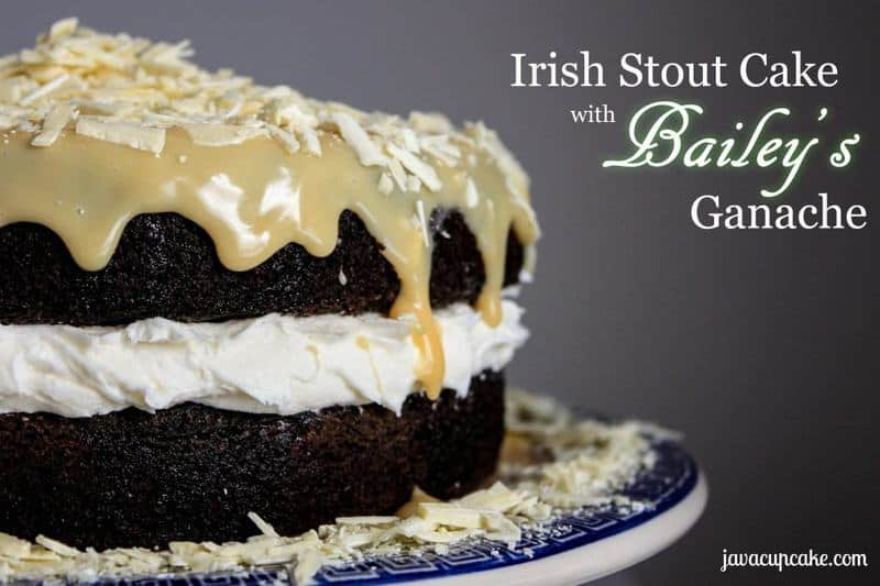 Irish Stout Cake with Bailey's Ganache by JavaCupcake.com