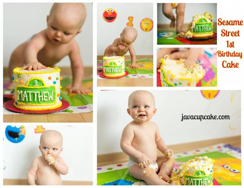Sesame Street 1st Birthday Cake by JavaCupcake.com