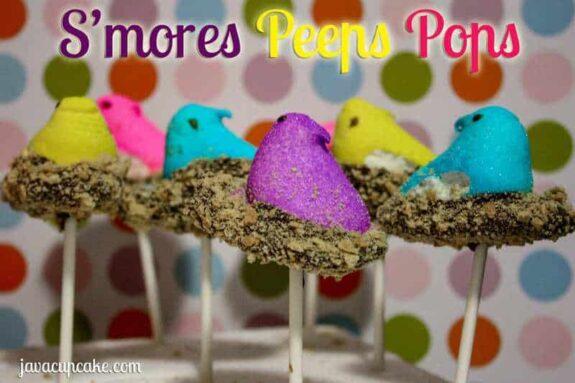 S'mores Peeps Pops