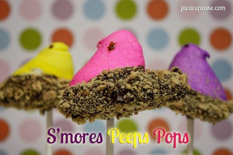 Smores Peeps Pops | JavaCupcake.com