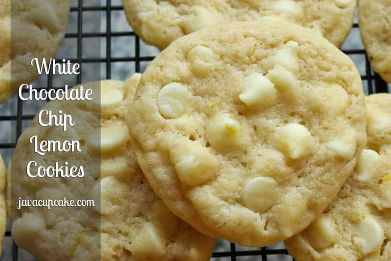 These chewy lemon cookies filled with white chocolate chips are a ...