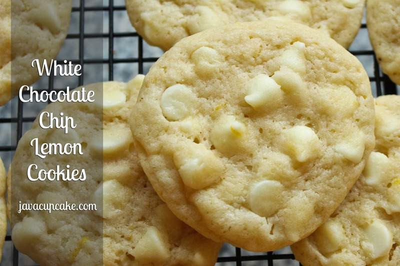 White Chocolate Chip Lemon Cookies by JavaCupcake.com