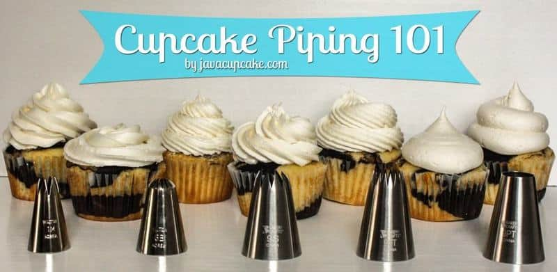 {Video Tutorial} Cupcake Piping 101 - Learn to pipe beautiful swirls of frosting on your cupcake in 7 different ways!  by JavaCupcake.com