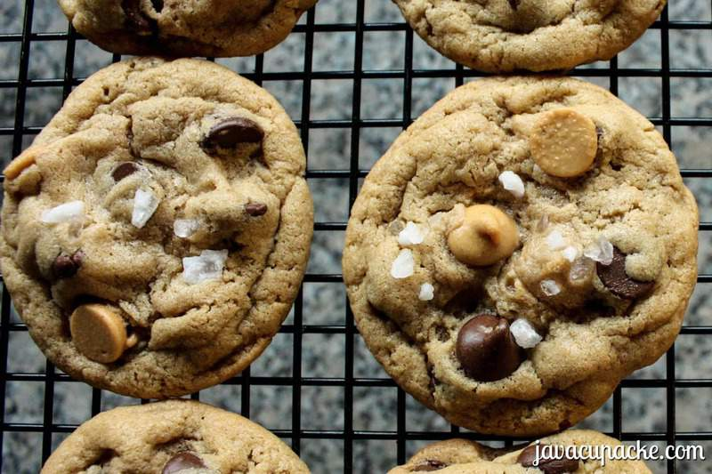 Peanut Butter & Chocolate Chip with Sea Salt Cookies