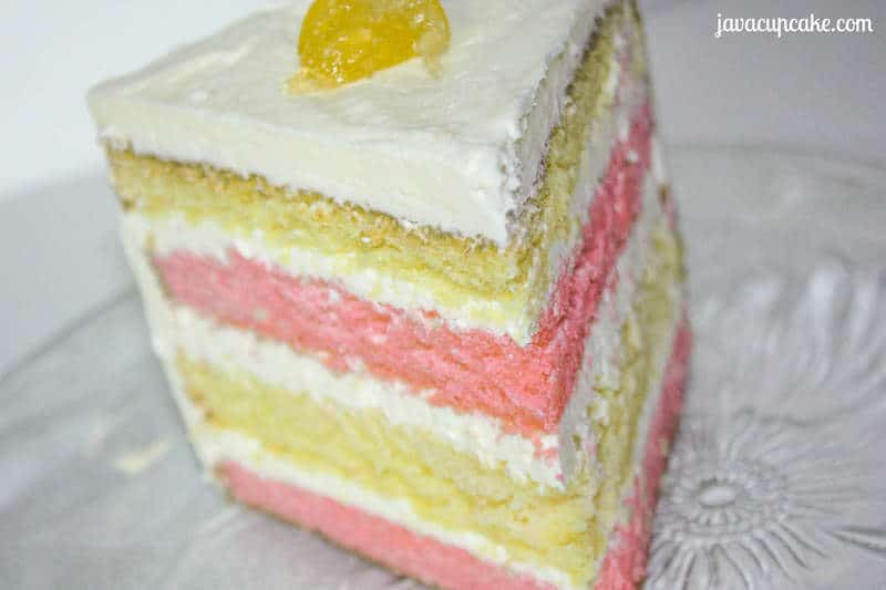 Pink Lemonade Layer Cake by JavaCupcake.com
