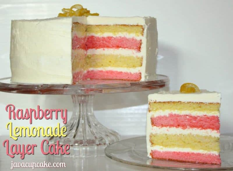 Raspberry Lemonade Layer Cake | JavaCupcake.com