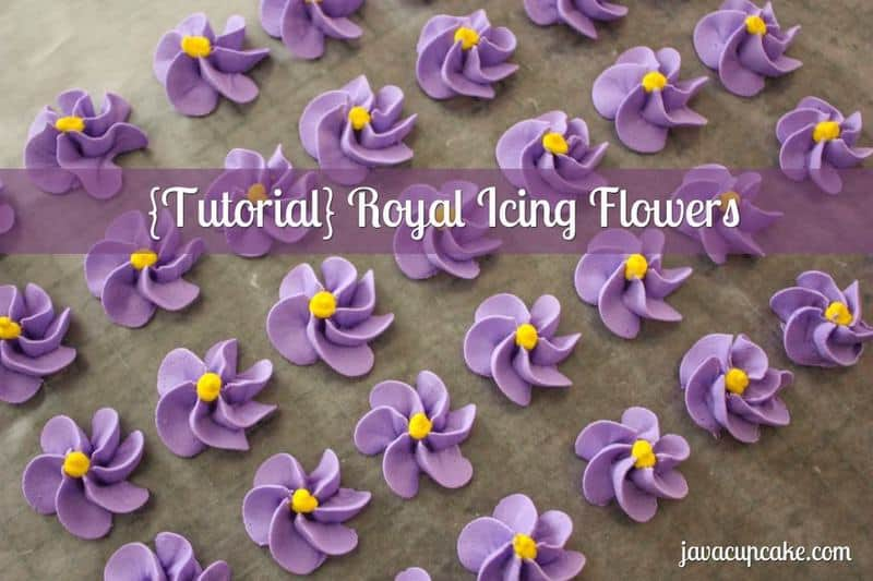 How to make flower using royal icing