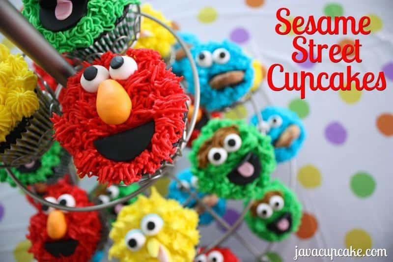 Tutorial: Sesame Street Cupcakes by JavaCupcake.com