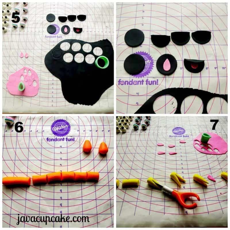 Tutorial Sesame Street Cupcakes by JavaCupcake - Mouth and Beak