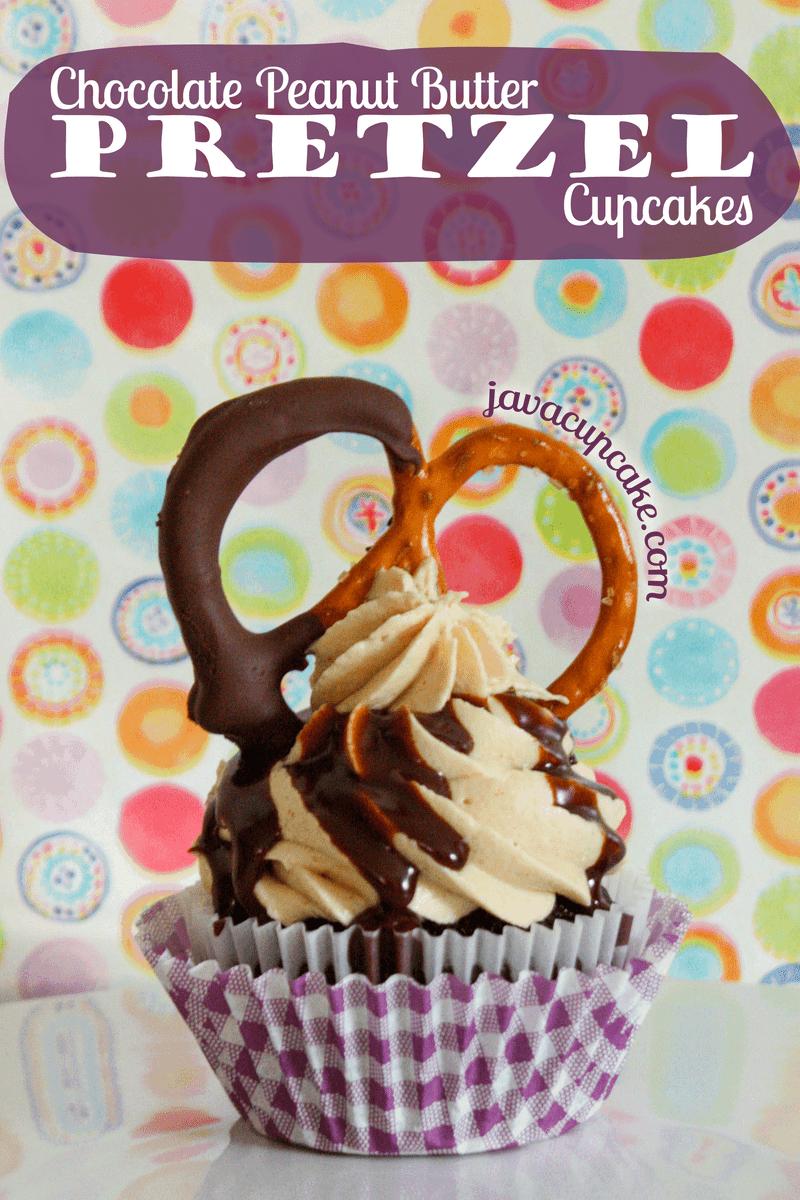 Sweet & Salty:Chocolate Peanut Butter Pretzel Cupcakes - JavaCupcake