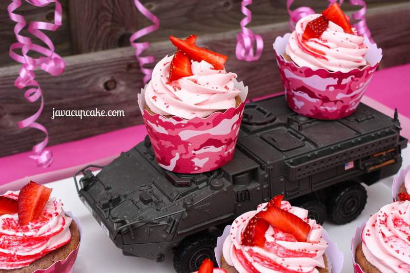 Pink Camouflage Cake Mix Cupcake couture blog party