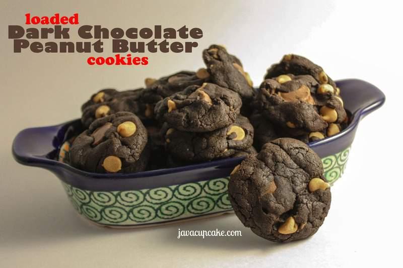 Loaded Dark Chocolate Peanut Butter Cookies