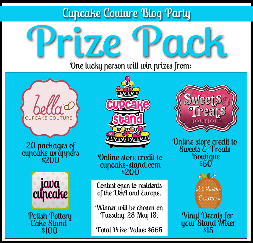 Cupcake Couture Blog Party Prize Pack - a $565 value!