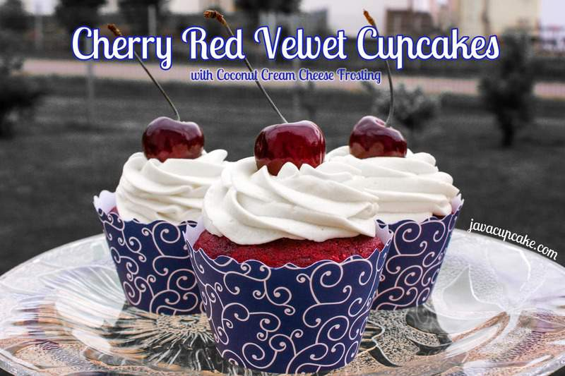 ... Red Velvet Cupcakes with Coconut Cream Cheese Frosting by JavaCupcake