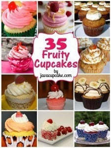 35 Fruity Cupcakes by JavaCupcake.com