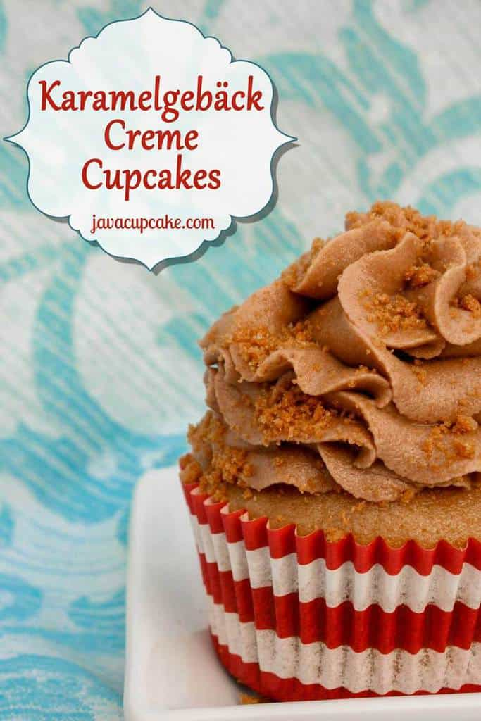Original Karamelgebäck Creme (aka Cookie Butter, Speculoos and Biscoff) Cupcakes by JavaCupcake.com