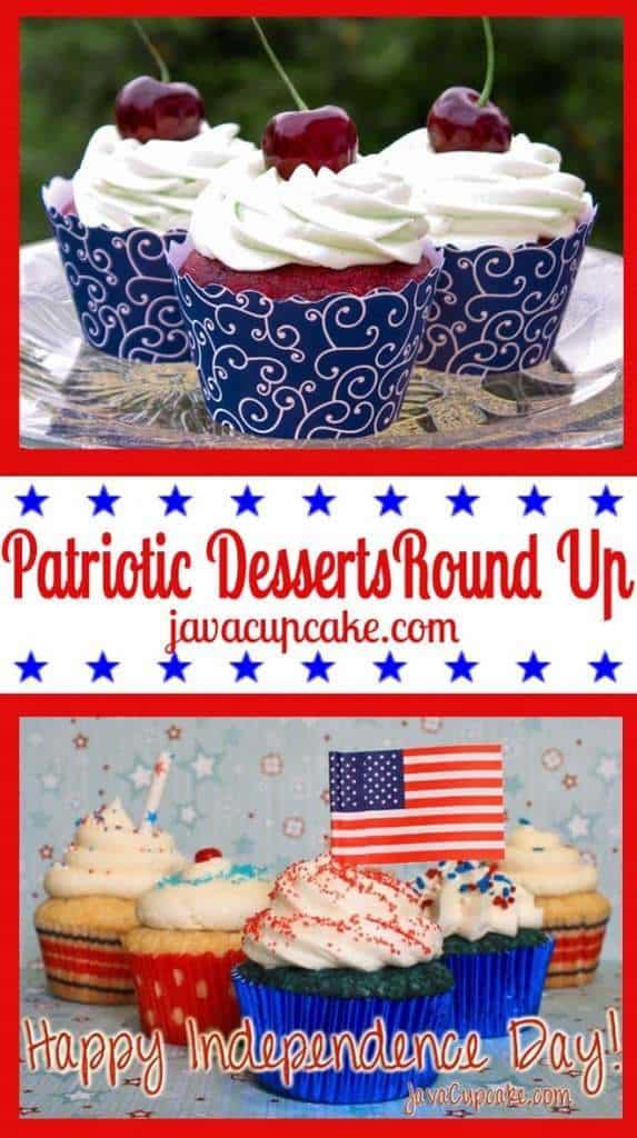 Patriotic Dessert Round Up by JavaCupcake.com