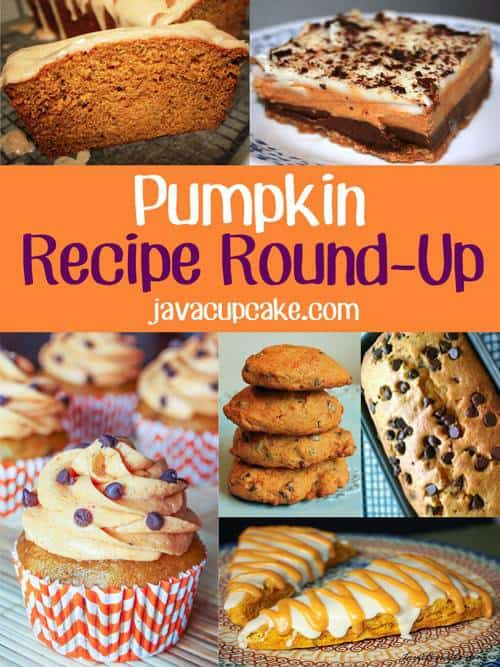 Pumpkin Recipe Round-Up! More than 20 delicious pumpkin recipes all from JavaCupcake.com!