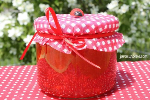 Strawberry Freezer Jam by JavaCupcake.com