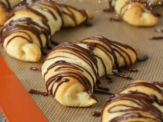 Double Chocolate Cresents Recipe via @KatrinasKitchen