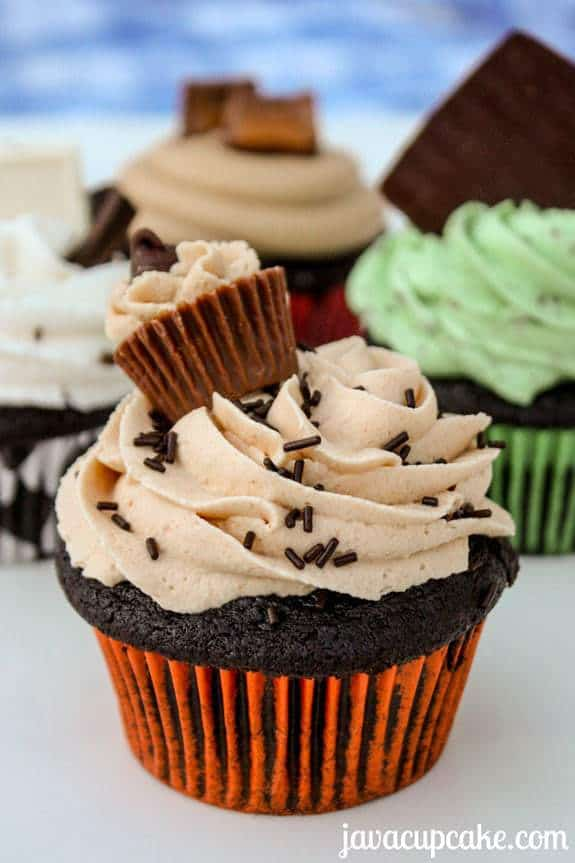 Reese's Cupcakes by JavaCupcake.com