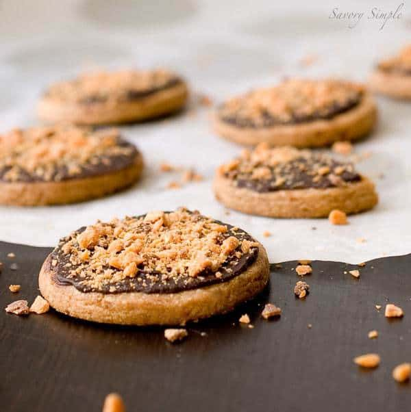 Butterfinger Shortbread Cookies by Savory Simple