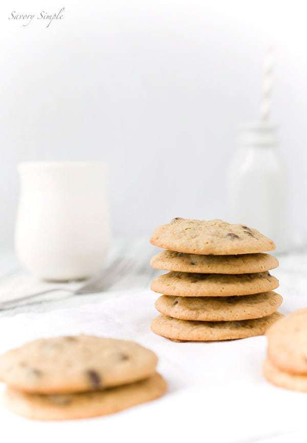 Coffee Toffee Chocolate Chip Cookies by Savory Simple for JavaCupcake.com