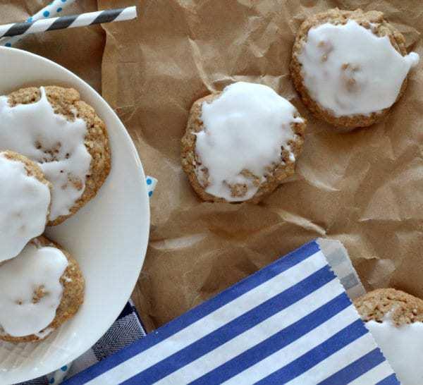 Glazed Oatmeal Cookies by Rachel Cooks for JavaCupcake.com