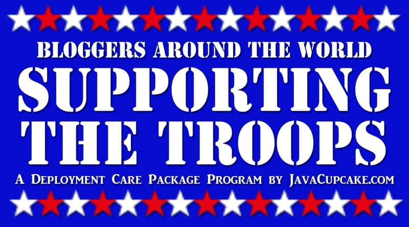 Bloggers Around the World Supporting the Troops - A Deployment Care Package Program by JavaCupcake.com