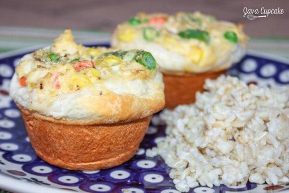Mini Chicken Pot Pie Cupcakes   JavaCupcake.com