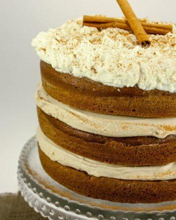 Pumpkin Spice Latte Layer Cake   JavaCupcake.com