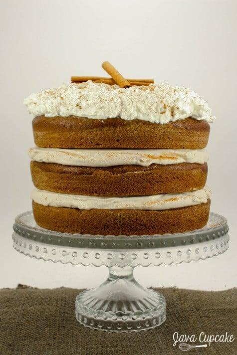 Pumpkin Spice Latte Layer Cake | JavaCupcake.com