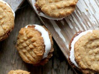 Peanut Butter Sandwich Cookies by Beard and Bonnet