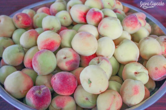 10lbs of tart mini white peaches | JavaCupcake.com