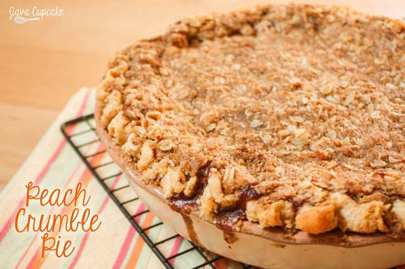 Peach Crumble Pie | JavaCupcake.com