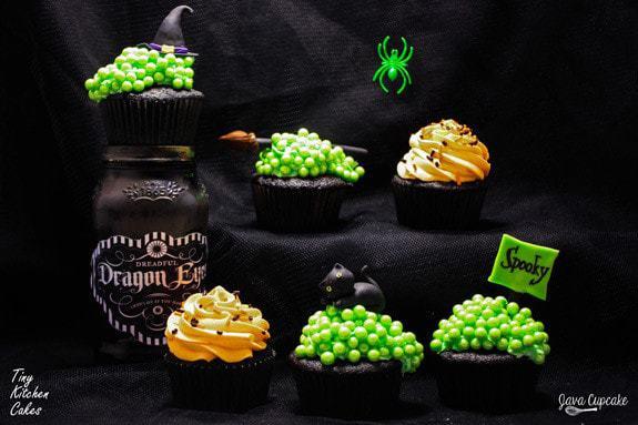 Witch's Cauldron Cupcakes | JavaCupcake.com