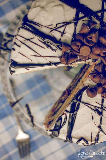 Chocolate Chip Fudge Cake   JavaCupcake.com